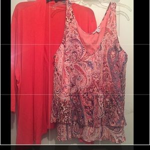 Lot cover up and blouse 2X